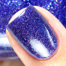 purple blue glitter nail polish crystal knockout flecks of light