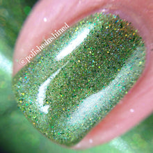 green grass fern holo nail polish crystal knockout girl in the trees fantasy nymphs
