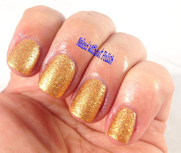 gold shimmer textured nail polish crystal knockout goin' deluxe