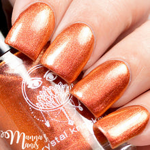 orange red copper multichrome nail polish crystal knockout hell hound greek underworld