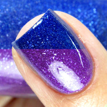 purple blue thermal color changing mood nail polish crystal knockout iolite coast