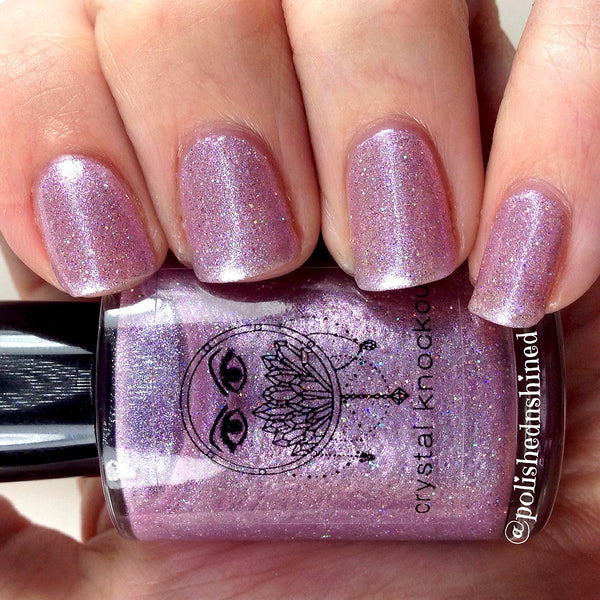 light purple lavender holo nail polish crystal knockout meadow maiden fantasy nymphs