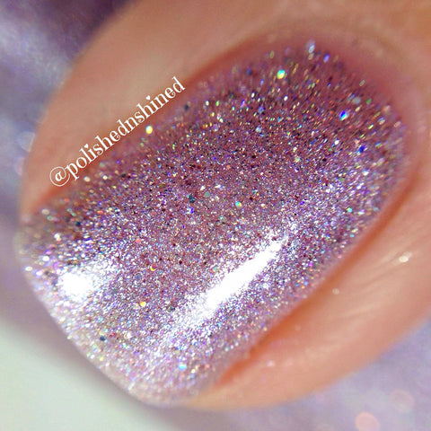light purple lavender holo nail polish