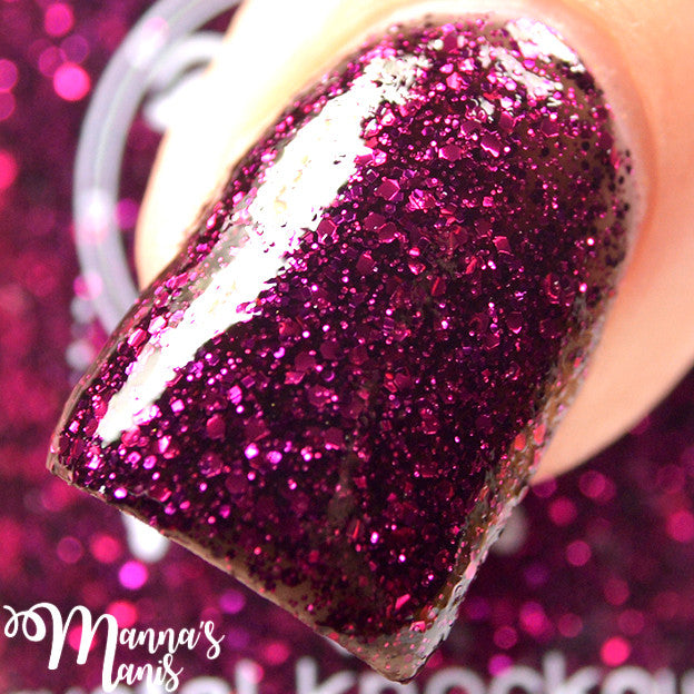 pink black fuchsia glitter jelly nail polish crystal knockout night nyx greek underworld