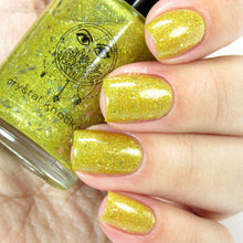 yellow gold shimmer glitter nail polish crystal knockout orbs of sunlight