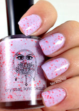 purple lavender crelly glitter nail polish crystal knockout ostara's angelfish