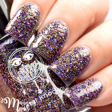 deep purple holo glitter gold nail polish crystal knockout phantom hoofbeats wild hunt