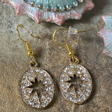 Crystallized Star Ovals Earrings
