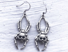 Skeleton Spider Earrings