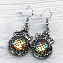 Golden Aura Mermaid Scale Earrings