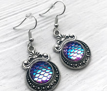 Blurple Mermaid Scale Earrings