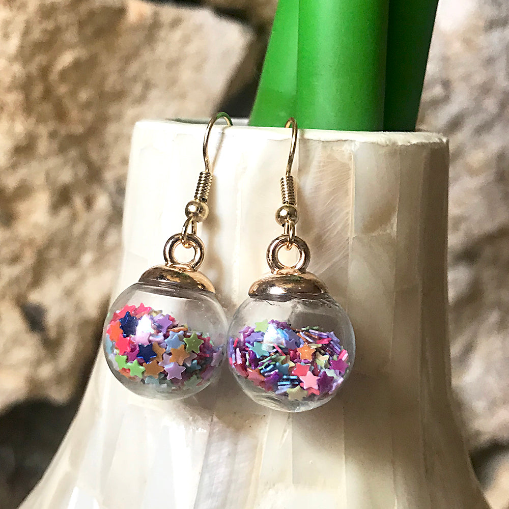 Sprinkle Bubble Earrings