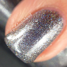 silver gray holo nail polish crystal knockut queen of storms fantasy nymphs