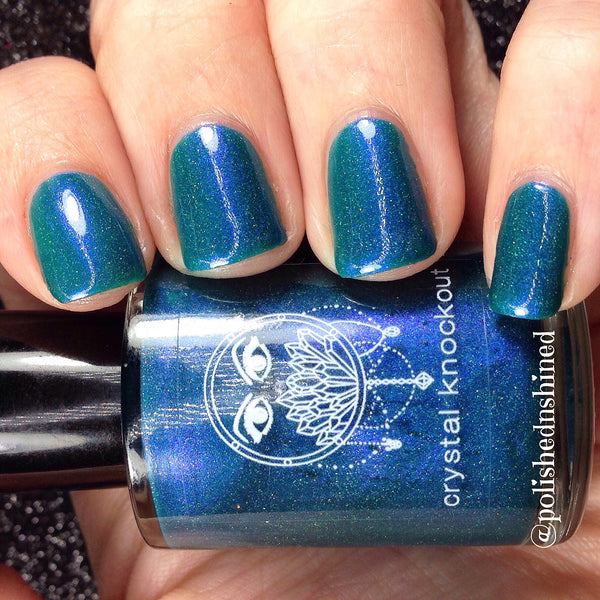 royal blue holo nail polish
