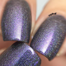 purple black holo rainbow nail polish crystal knockout specters of the sky