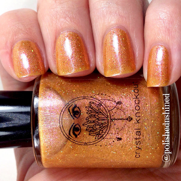 peach orange holo nail polish