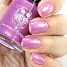 pink purple thermal color changing mood nail polish crystal knockout take back your pearls