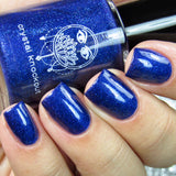 royal blue glitter nail polish crystal knockout the emperor