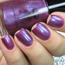 pink purple flakies nail polish crystal knockout the empress tarot enchantment