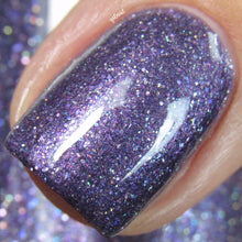 purple lavender glitter nail polish crystal knockout the high priestess
