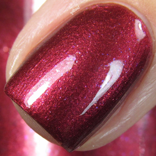 apple red shimmer nail polish crystal knockout the lovers tarot enchantment