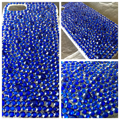Tatiana Bling Phone Case in Cobalt Blue