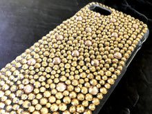 gold champagne bling rhinestone phone case crystal knockout iphone galaxy