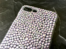 light purple lavender bling rhinestone phone case crystal knockout iphone galaxy