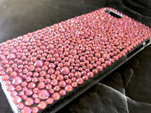 pink bling rhinestone cell phone case crystal knockout iphone galaxy