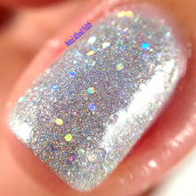 silver holo nail polish crystal knockout totally rad roller rink slammin' 90s summer