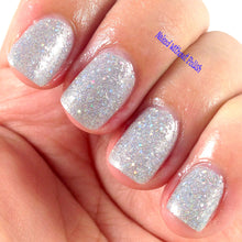silver holo nail polish crystal knockout totally rad roller rink