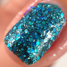 teal blue jelly glitter nail polish crystal knockout tube top weather