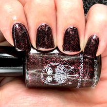 dark red burgundy flakies nail polish crystal knockout twisted masquerade