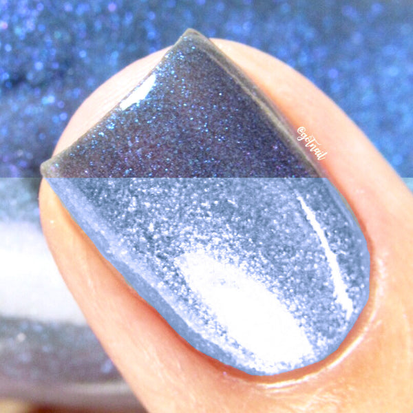 blue thermal color changing nail polish crystal knockout velvet rain