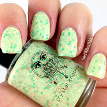 light green crelly glitter nail polish crystal knockout vesna's alligators