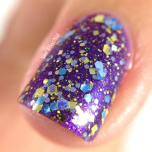 gold periwinkle blue glitter nail polish crystal knockout young king storyteller magic