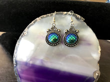 Azure Aqua Mermaid Scale Earrings