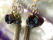 Geode Chain Earrings