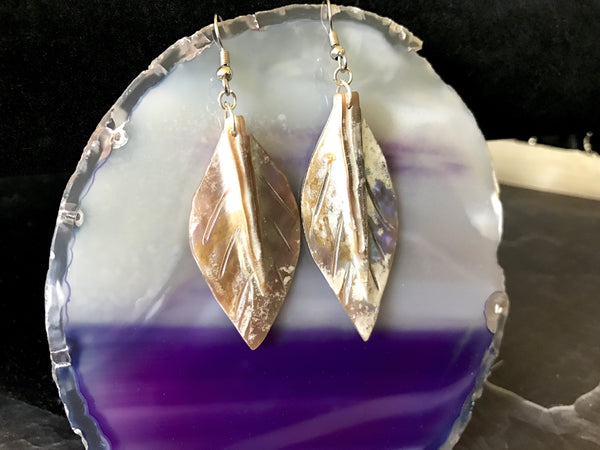 Opalescent Feather Earrings