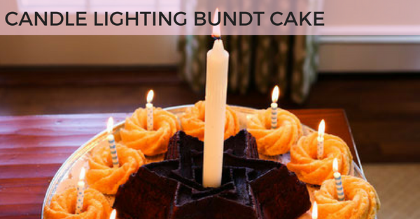 Star of David Bundt Cake Candle Lighting