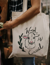 Load image into Gallery viewer, MARKED DOWN ↡Wool Is Cruel Tote