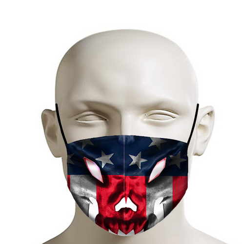 RAZRWING American Flag Face CREST X Face Mask