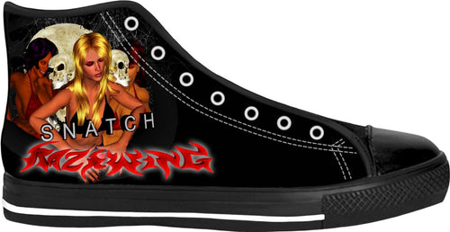 Razrwing Snatch Story Razrwing Alured SNATCH RW Lettering Black High Tops Right side