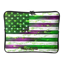 Dark American History Jester Blood Flag Laptop Bag
