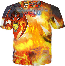 "Razrwing Dark Crest Brand Collection RAZRWING BRYAN: OBSESSION in FLAMES CHOOSE ""R"" END T SHIRT Back"