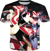 Razrwing Dark Crest Brand Collection RAZRWING Sparkling STRIKES OF STARS AND STRIPES T Front