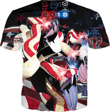 Razrwing Dark Crest Brand Collection RAZRWING Sparkling STRIKES OF STARS AND STRIPES T Back