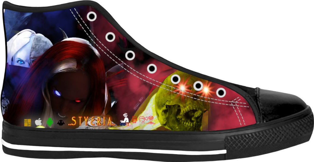 RAZRWING STYERIA STRIKING SKULLS LE HIGH TOPS