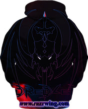 Razrwing Dredlen Collection RAZRWING  D R E D L E N -FIRE- HOODIE Back