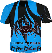 Razrwing Dredlen Collection CHOOSE YR F.E.A.R.- D R E D L E N -T -BLUE SHIRT Back